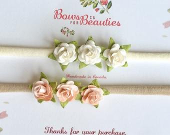 Flower nylon headband
