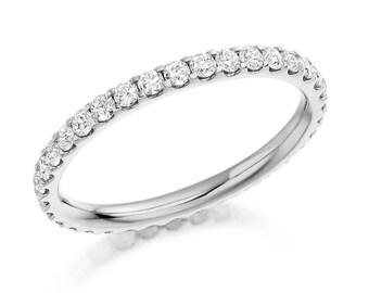 1.9 mm  Full Diamond Eternity Ring 18 ct Gold
