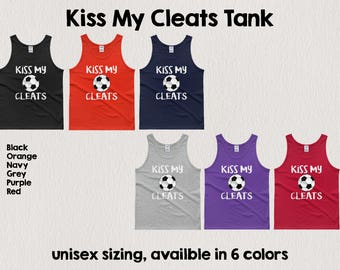 Kiss My Cleats tank top