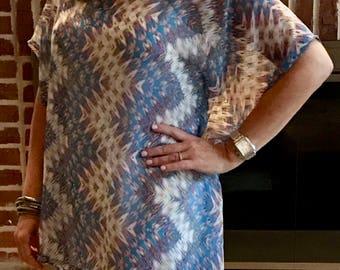 Women's Semi-Sheer Tunic Blouse