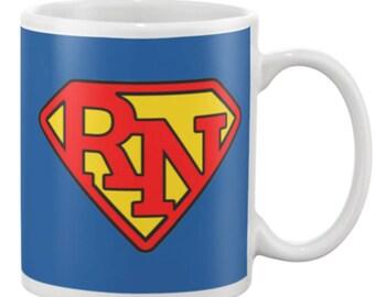 Funny Super RN Nursing Mug