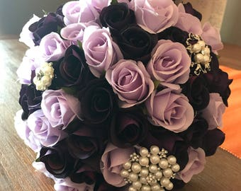 Handmade Purple bridal bouquet
