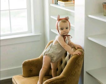 Gender neutral  romper,  baby romper, linen romper