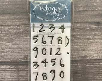 Technique Tuesday Number Stamp Set