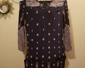 Boho style paisley print dress