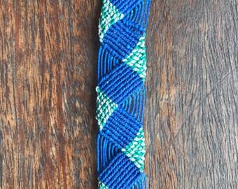 Water Waves Macrame Bracelet Cuff