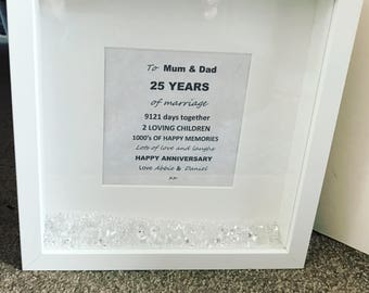 25th Anniversary Frame