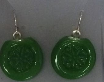 Green Borosilicate Earrings