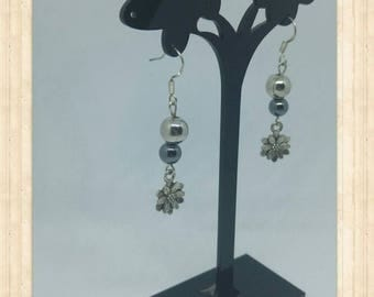 Lotusea - silver lotus flower earrings