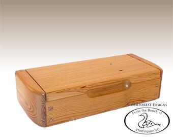 Antique Reclaimed Heart Pine Mini Chest/Desk Box, Made in Alaska, Ser.#SB2016-0807