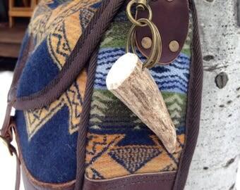 """3.1"""" Elk Antler Key Chain/Bag Clip"""
