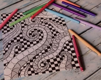 Items Similar To Alphabet Animal Coloring Pages With Color Guide