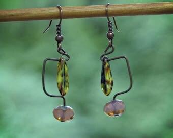 Abstract Snake Eye Slider Earrings