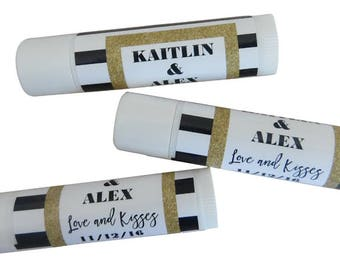 Personalized Lip Balm Party Favors; Custom Wedding, Event, and Business Promotional Items