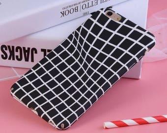 Black Lattice iPhone Case