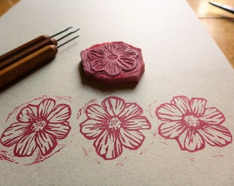 Handmade Daisy Flower Stamp