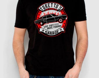 Fast and furious men boy T shirt different sizes Toretto garage