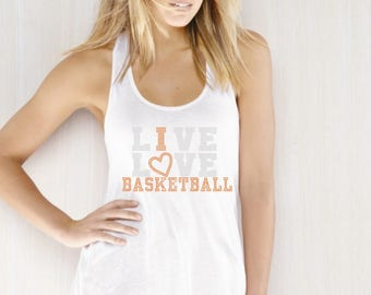 I Love Basketball Rhinestone Iron on Transfer
