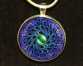 Blue and Green pattern pendant