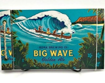 Upcycled Big Wave Golden Ale Blank Book