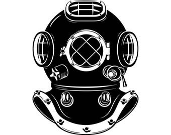 Diving Mask Marine Navigation  Diver  Navy Antique Scuba Mask   .SVG .EPS .PNG Vector Space Clipart Digital Download Circuit Cut Cutting