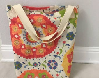 Tropical Color Floral Beach Bag