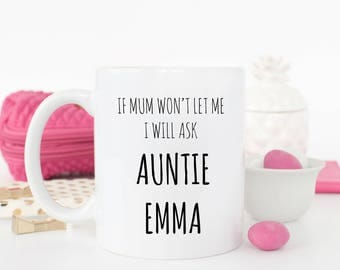 Personalised Ask Auntie mug
