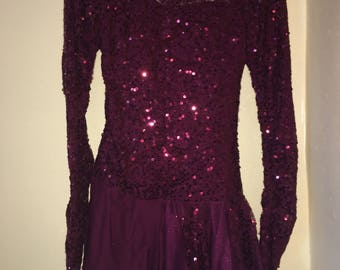 Red Sequined Dance Costume