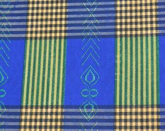 African Print/ Ankara/ 6 Yards/Blue, Green, Yellow