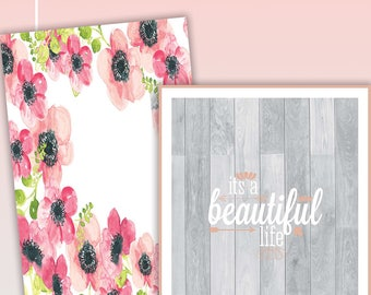 Watercolor Floral 2017-2018 Planner