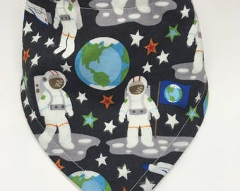 Astronaut Bandana Drool Bib Baby Bib Baby Shower Gift Bibdana Toddler Bib Teething Baby Baby Girl  Baby Boy