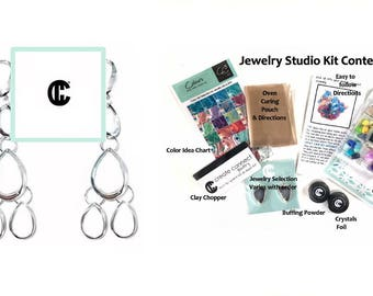 DIY Cascade Earrings Jewelry Kit with Color Box, Create them in ANY COLOR