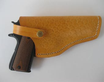 Leather Holster/1911 Browning/Handmade holster/Cross Draw/Conceal Holster/