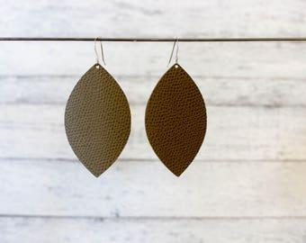 Leather Earrings, Drop Statement Earrings, Everyday Earrings, Lightweight Earrings, Gift For Her, Long Statement Earrings, Boho Earrings