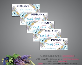 Piphany Cash Card, Piphany Money Cash, Custom Piphany Cash Discount, Piphany markting, Printable Card - Digital file TP07