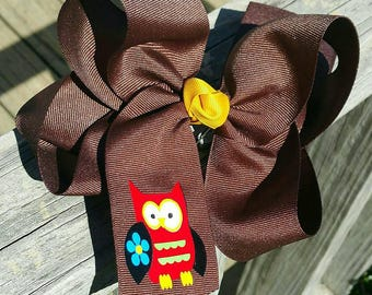 Boutique Owl Hair Bow
