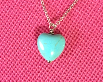 Mini Turquoise Heart Necklace