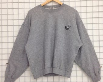 RARE !!! Puma Sweatshirts Small Logo Embroidery For Women Nice Design