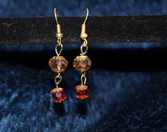 Gold Dangle Drop Earrings