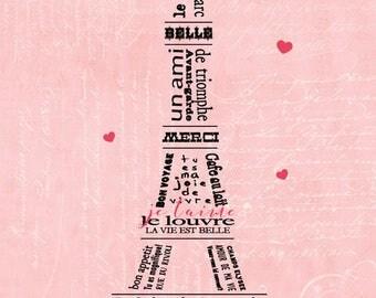 Paris in Pink 10x20 PRINT
