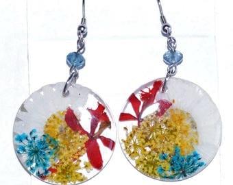 Medium earrings natural flowers