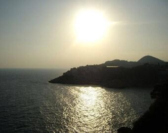 Croatian sunset photograph