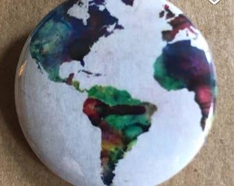 Watercolor Map Pin