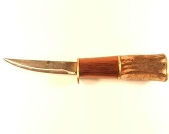 Handmade knife Antler/Wood