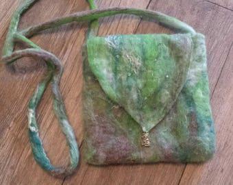 """""""Forest spirit"""" felted wool shoulder bag"""