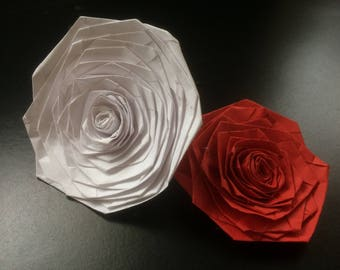 Individual Paper Origami Flowers heads with or without stems