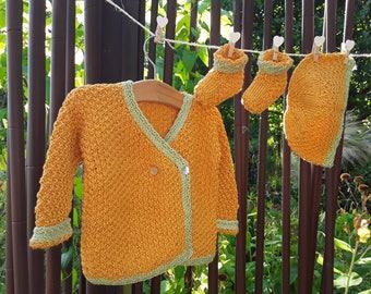 Handmade knit baby bamboo yarn
