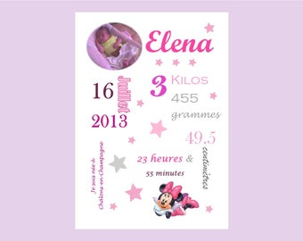 Poster of birth personalised as you wish