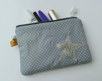Star applied makeup pouch