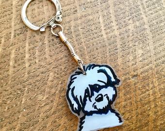 Keychain or bag charm adorable dog nizinny 2